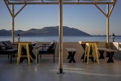 Bar morzem Kurort Kasa, Turcja zdjęcie stock