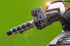 bar motorbiken för signalljushandtaglinsen Arkivfoton
