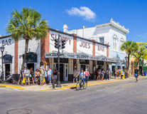Bar mouillé de Joes dans Key West Images stock