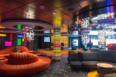 Bar on the MSC Fantasia Royalty Free Stock Images