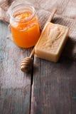 Bar of natural handmade soap Stock Image