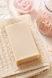 Bar of natural handmade soap Stock Images