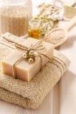 Bar of natural handmade soap Stock Photography