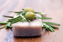 Bar of natural soap Stock Image