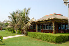 Bar near the beach of resort's hotel Royalty Free Stock Photography