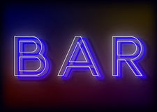 Bar neon sign, design for your business Royalty Free Stock Photos