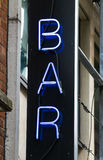 Bar Neon signboard Royalty Free Stock Image