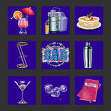 Bar and night club icons Stock Photos