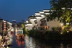 Bar night by Qinhuai River Stock Photos