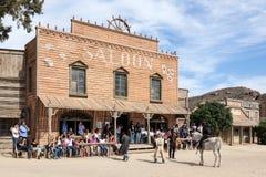 Bar nos estúdios do cinema do bravo do forte na Espanha fotografia de stock royalty free