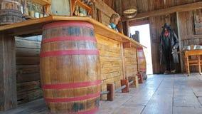 Bar ocidental velho - panorama imagens de stock royalty free