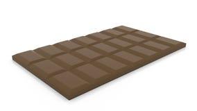 Bar odizolowywający na białym tle dojna czekolada, 3D rendering Zdjęcie Royalty Free