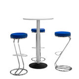Bar or office chairs and round table isolated on white background.  royalty free stock image