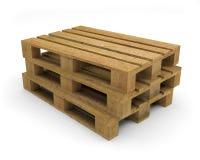 Barłogu drewna transportu 3D ilustracja Zdjęcie Stock