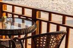 Bar op het strand Stock Foto's
