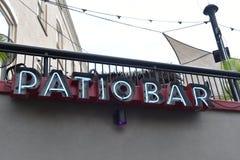 Bar op het Terras stock foto's