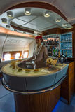 The bar for the passengers the first and business class of the world's largest aircraft Airbus A380. Royalty Free Stock Photography