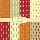 Bar pattern collection Royalty Free Stock Photography