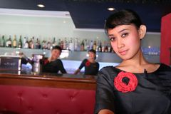 bar personalen Royaltyfri Fotografi