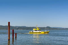 Bar Pilot Boat In the Columbia River royalty free stock photos