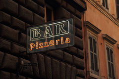 Bar and pizza sign Royalty Free Stock Images
