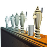 Bar pouring beer Royalty Free Stock Photos