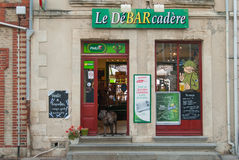 Bar przy Maisy, Normandy, Francja obraz stock