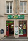 Bar przy Maisy, Normandy, Francja II fotografia stock