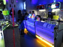 Bar przy nocą Obrazy Stock