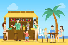 Bar przy plażą ilustracji