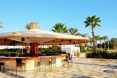 Bar przy plażą luksusowy hotel fotografia stock