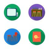 Bar, pub, restaurant, cafe .Pub set collection icons in flat style vector symbol stock illustration web. Stock Photography