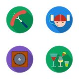 Bar, pub, restaurant, cafe .Pub set collection icons in flat style vector symbol stock illustration web. Royalty Free Stock Photo