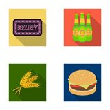 Bar, pub, restaurant, cafe .Pub set collection icons in flat style vector symbol stock illustration web. Stock Images