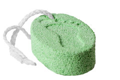 Bar of pumice on a white background Stock Image