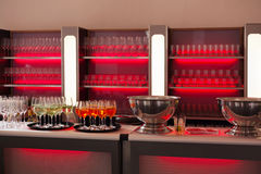 Bar with red backlight Stock Images