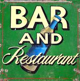Bar and restaurant in Brighton Stock Image