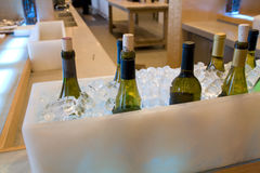 Bar restaurant. A fine bar restaurant with alcohols ready in ice Royalty Free Stock Photography