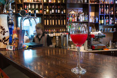 The bar in the restaurant. Royalty Free Stock Photo