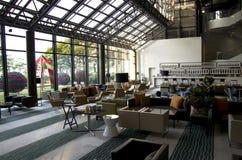 Bar restaurant in hotel lobby stock photography