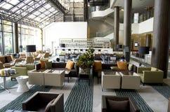 Bar restaurant in hotel lobby royalty free stock photography