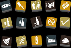 Bar and restaurant Icon Set Stock Photo