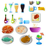 Bar and restaurant icons Royalty Free Stock Images