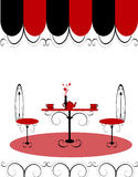 Bar restaurant lounge coffee women Illustration ve Royalty Free Stock Images