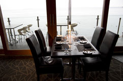 Bar restaurant with ocean view Royalty Free Stock Photography