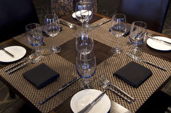 Bar restaurant table setting Royalty Free Stock Image