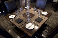 Bar restaurant table setting Royalty Free Stock Images