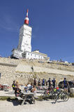 Bar restaurant at the top of Mont Ventoux Royalty Free Stock Photo