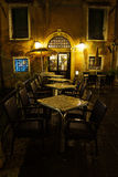 Bar restaurant in Venice at night Royalty Free Stock Photography