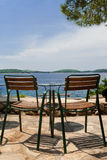 Bar romantique à la Mer Adriatique Photographie stock libre de droits